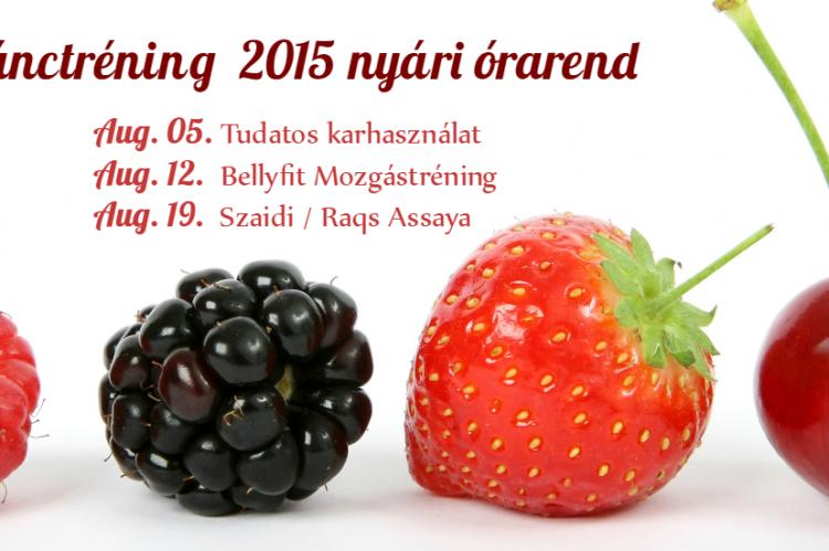 Nyári Órarend 2015 augusztus | KeletiTancTrening.hu